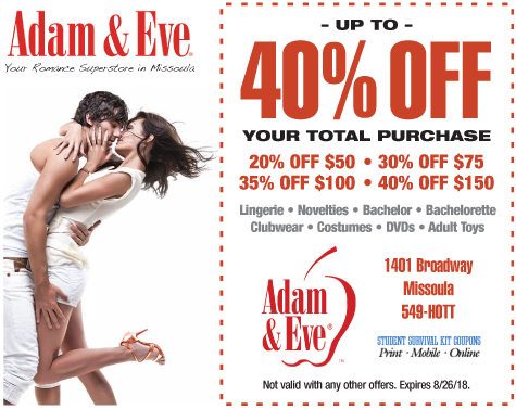 Adam and Eve coupon