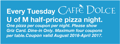 Caffe Dolce coupon