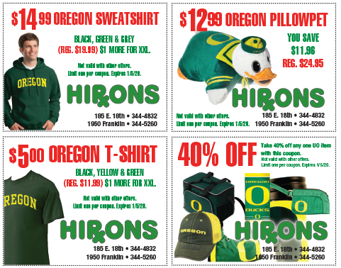 Hiron's coupons