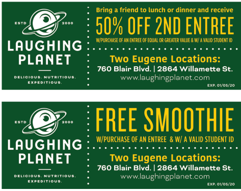 Laughing Planet Cafe coupon
