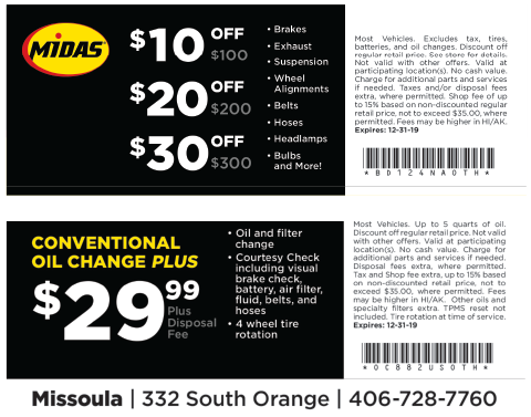 Midas coupon
