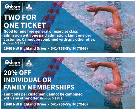 Osborne Aquatic Center coupon