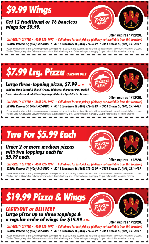 Coupon code pizza hut wings