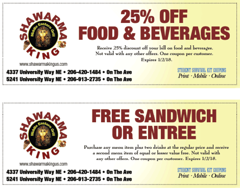 Shawarma King coupon