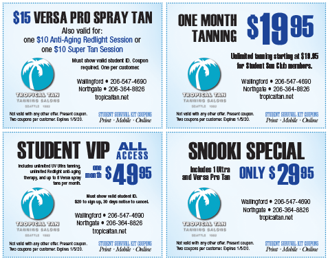Tropical Tan coupons